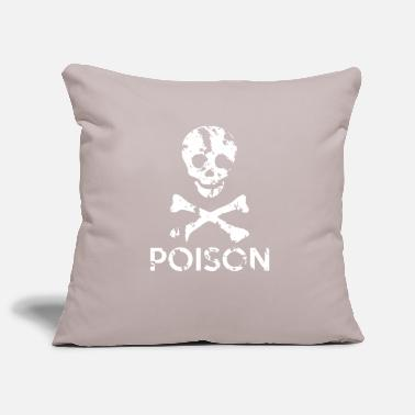 Grungy Grungy Warning Sign – Poison - Pillowcase 17,3'' x 17,3'' (45 x 45 cm)