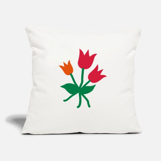Red Pillow Cases - tulips - Pillowcase 17,3'' x 17,3'' (45 x 45 cm) natural white