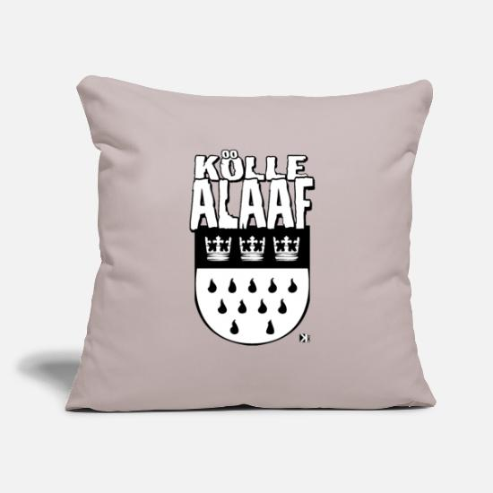 Carneval Pillow Cases - Kölle Alaaf Carnival Fastelovend Costume Cologne Party - Pillowcase 17,3'' x 17,3'' (45 x 45 cm) light grey
