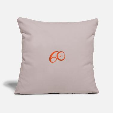 60 Years 60 years birthday anniversary - Pillowcase 17,3'' x 17,3'' (45 x 45 cm)