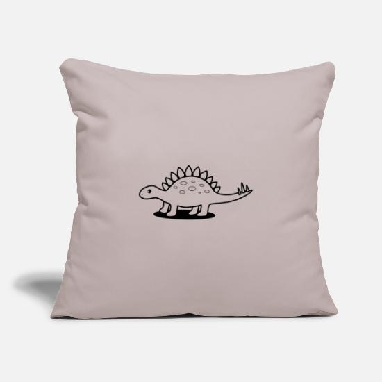 Stegosaurus Pillow Cases - Stegosaurus - Pillowcase 17,3'' x 17,3'' (45 x 45 cm) light taupe