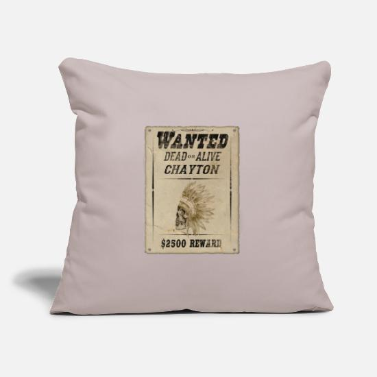 Reward Pillow Cases - Indians wanted, reward, gift - Pillowcase 17,3'' x 17,3'' (45 x 45 cm) light grey