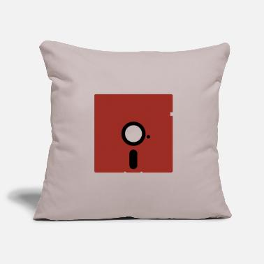 Floppy 5,25″ color red - Pillowcase 17,3'' x 17,3'' (45 x 45 cm)