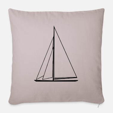 Sail Boat sail boat - Pillowcase 17,3'' x 17,3'' (45 x 45 cm)