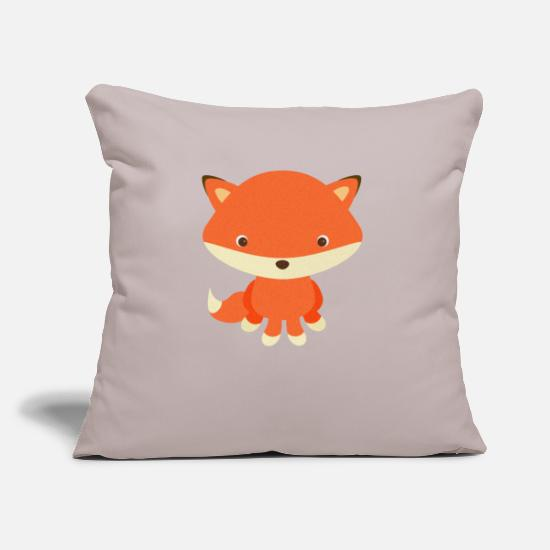 Kids Pillow Cases - Fox - Pillowcase 17,3'' x 17,3'' (45 x 45 cm) light grey