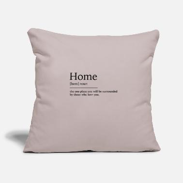 Home Home at home - Pillowcase 17,3'' x 17,3'' (45 x 45 cm)