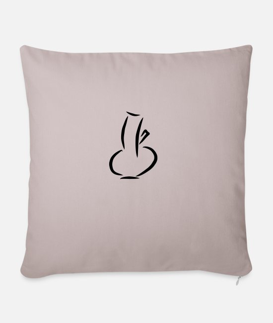 Party Pillow Cases - Bong - Pillowcase 17,3'' x 17,3'' (45 x 45 cm) light taupe