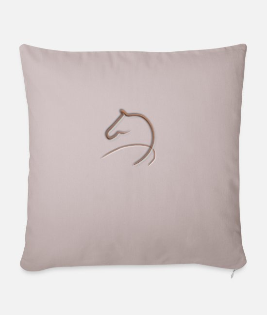Stylized Pillow Cases - horse - Pillowcase 17,3'' x 17,3'' (45 x 45 cm) light taupe