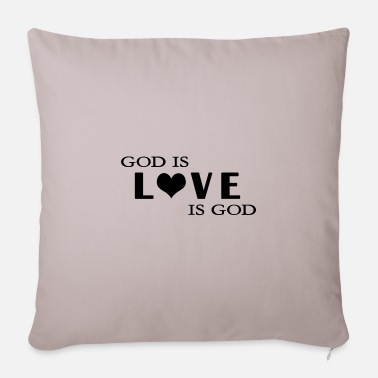 God God is love is God - Pillowcase 17,3'' x 17,3'' (45 x 45 cm)