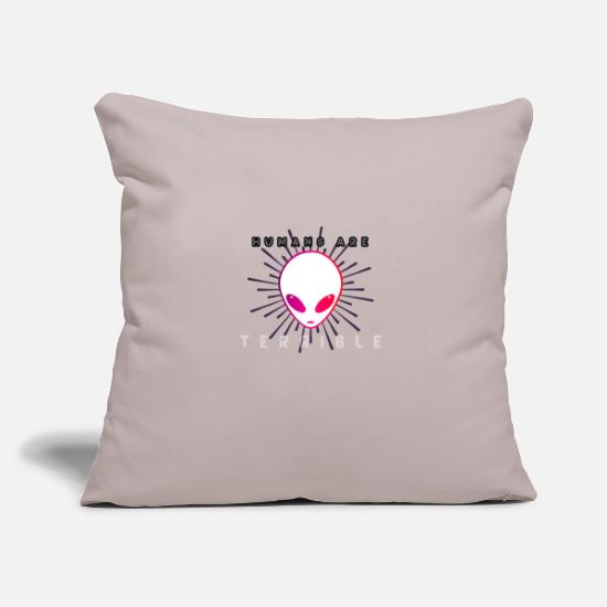 Astronaut Pillow Cases - Alien Area 51 Humans are Invaders - Pillowcase 17,3'' x 17,3'' (45 x 45 cm) light grey