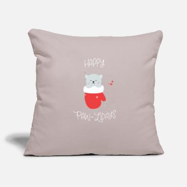 Hipster Happy Paw-Lidays - Sofa pillow cover 44 x 44 cm