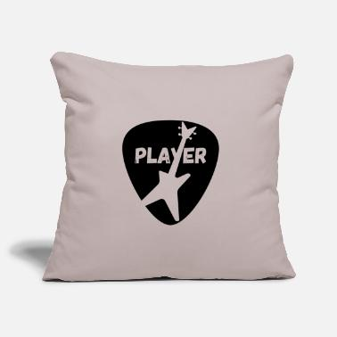 Bass Player T-shirt met plectrum en basgitaar - Kussenhoes