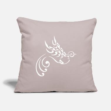 Maori Maori tattoo bird freedom white - Pillowcase 17,3'' x 17,3'' (45 x 45 cm)