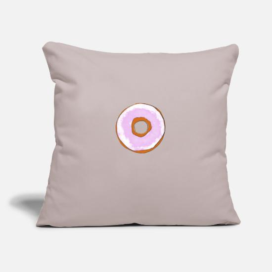 Love Pillow Cases - Donut with frosting gift idea - Pillowcase 17,3'' x 17,3'' (45 x 45 cm) light grey