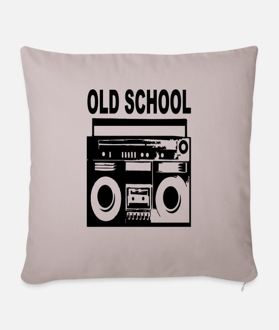 Streetdance Pillow Cases - old school - Pillowcase 17,3'' x 17,3'' (45 x 45 cm) light taupe