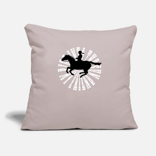 Gallop Pillow Cases - gallop lady - Pillowcase 17,3'' x 17,3'' (45 x 45 cm) light grey