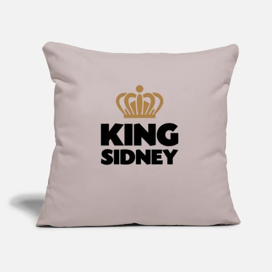 Sidney Pillow Cases - King sidney name thing crown - Pillowcase 17,3'' x 17,3'' (45 x 45 cm) light grey