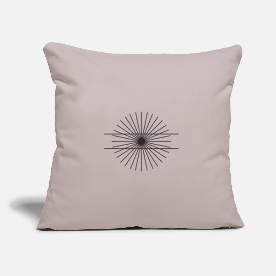 Square Pillow Cases - Optical illusion math geometry line view - Pillowcase 17,3'' x 17,3'' (45 x 45 cm) light grey