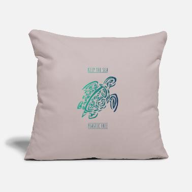 Seafood tortoise environmental protection in the sea women premium t - Pillowcase 17,3'' x 17,3'' (45 x 45 cm)
