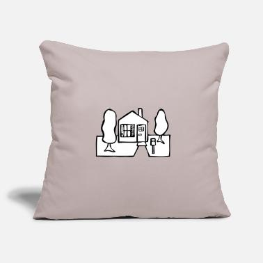House Building 001 building - house with garden - Pillowcase 17,3'' x 17,3'' (45 x 45 cm)