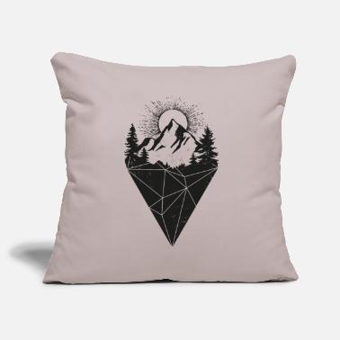 Sun mountain sun grunge - Pillowcase 17,3'' x 17,3'' (45 x 45 cm)