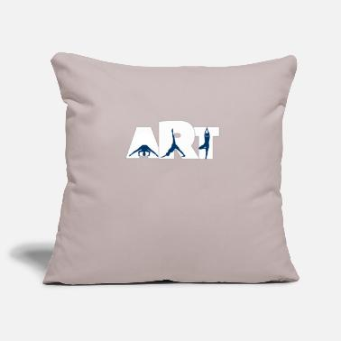 Yoga is an art of balance, mind and body - Pillowcase 17,3'' x 17,3'' (45 x 45 cm)