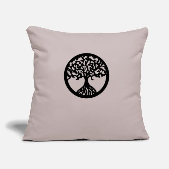 Symbol  Pillow Cases - tree of life - Pillowcase 17,3'' x 17,3'' (45 x 45 cm) light taupe