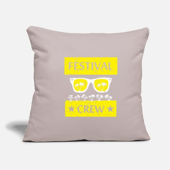 Gift Idea Pillow Cases - Festival Shirt · Summer Open air · Gift - Pillowcase 17,3'' x 17,3'' (45 x 45 cm) light grey