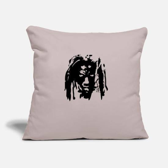Africa Pillow Cases - Rasta soldier - Pillowcase 17,3'' x 17,3'' (45 x 45 cm) light taupe