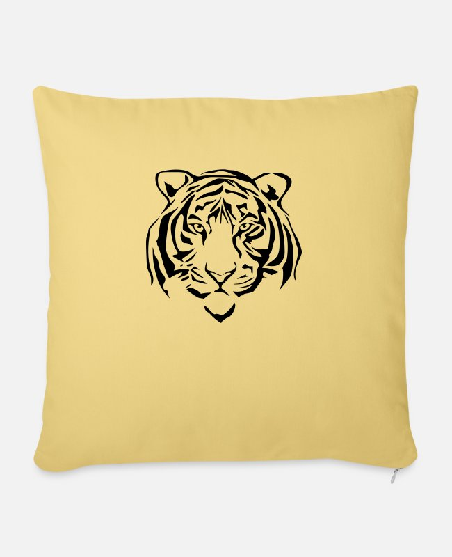 Honor Pillow Cases - tiger - Pillowcase 17,3'' x 17,3'' (45 x 45 cm) washed yellow