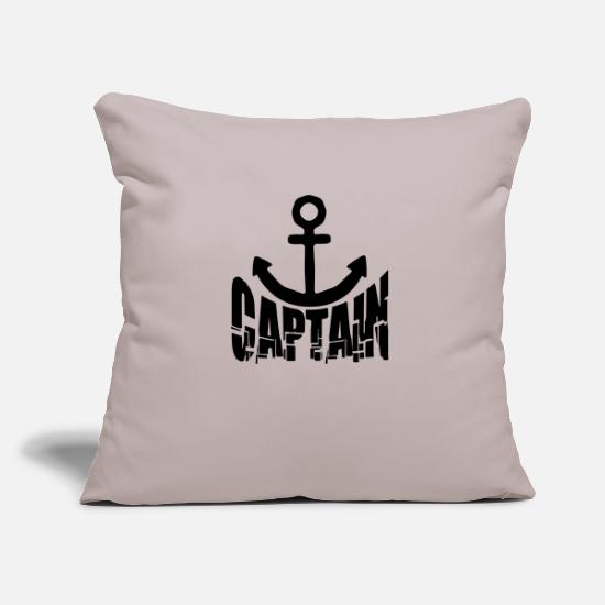 Fisherman Pillow Cases - Captain rank insignia anchor - Pillowcase 17,3'' x 17,3'' (45 x 45 cm) light taupe