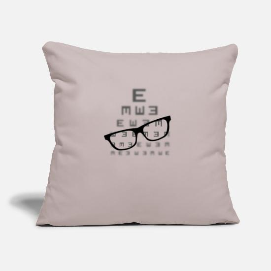 Blurry Pillow Cases - Vision screening with glasses - Pillowcase 17,3'' x 17,3'' (45 x 45 cm) light grey