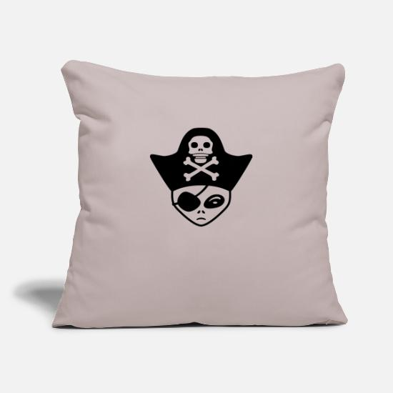 Cosmic Pillow Cases - face head pirate costume saber sailor ship big hor - Pillowcase 17,3'' x 17,3'' (45 x 45 cm) light grey