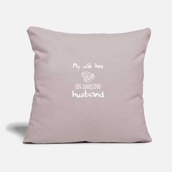 Husband Pillow Cases - Gift for husband - amazing - best husband - Pillowcase 17,3'' x 17,3'' (45 x 45 cm) light grey
