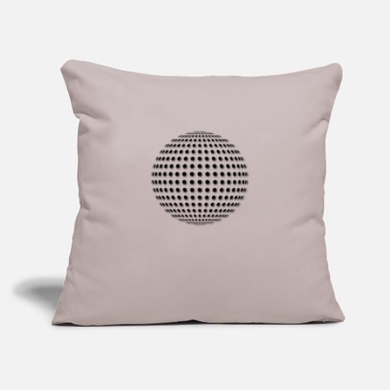 Optical Illusion Pillow Cases - Disco Ball - Pillowcase 17,3'' x 17,3'' (45 x 45 cm) light grey