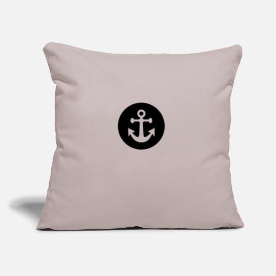 Sailboat Pillow Cases - anchor - Pillowcase 17,3'' x 17,3'' (45 x 45 cm) light taupe