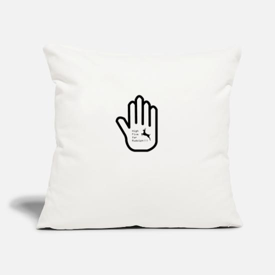 Gift Idea Pillow Cases - High Five for RUDOLPH !!! - Pillowcase 17,3'' x 17,3'' (45 x 45 cm) natural white