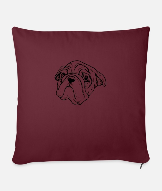 Cute Dog Pillow Cases - DOG Sweet dog - Pillowcase 17,3'' x 17,3'' (45 x 45 cm) burgundy
