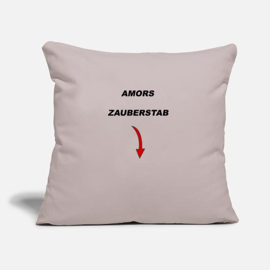 Gift Idea Pillow Cases - Cupid's wand - Pillowcase 17,3'' x 17,3'' (45 x 45 cm) light taupe
