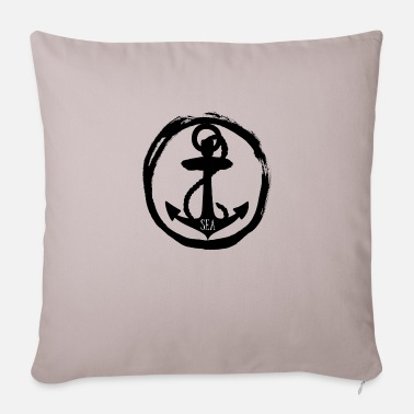 Sea Sea - anchor anchor - sea - sea - Pillowcase 17,3'' x 17,3'' (45 x 45 cm)