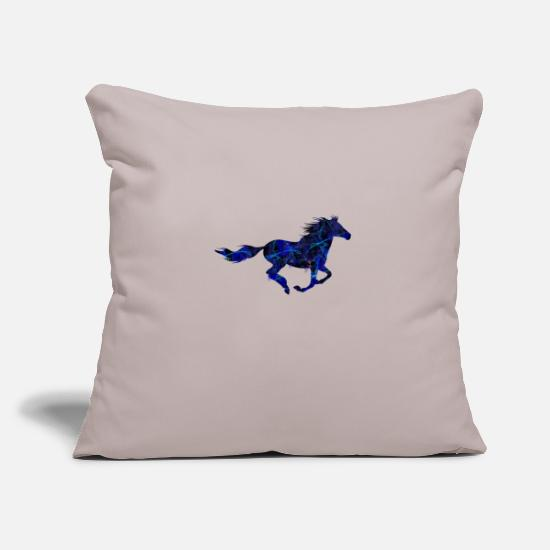 Show Jumping Pillow Cases - Wilders horse galloping - Pillowcase 17,3'' x 17,3'' (45 x 45 cm) light grey