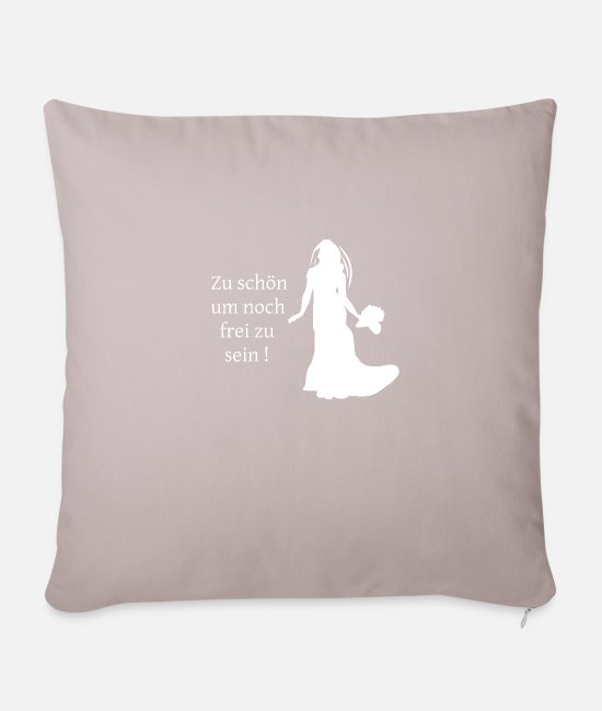 Hen Pillow Cases - Junggesellinenabschied - Pillowcase 17,3'' x 17,3'' (45 x 45 cm) light taupe