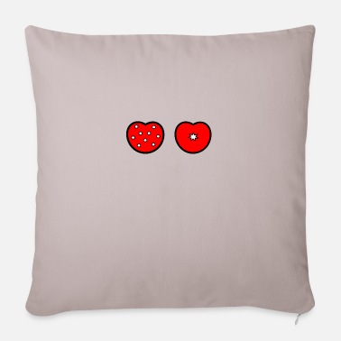 Patterned hearts - Pillowcase 17,3'' x 17,3'' (45 x 45 cm)