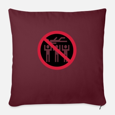 Stagediving No stagediving - Pillowcase 17,3'' x 17,3'' (45 x 45 cm)