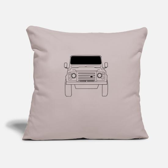 Land Pillow Cases - Land Rover Defender Front - Pillowcase 17,3'' x 17,3'' (45 x 45 cm) light grey