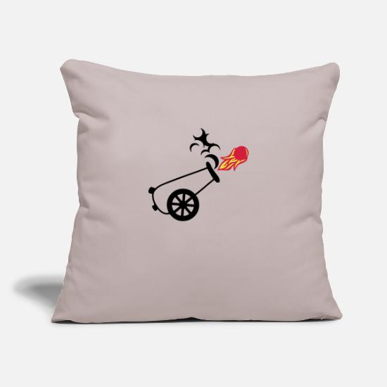 Cannon Pillow Cases - cannon ball draws fire flame fire smoke - Pillowcase 17,3'' x 17,3'' (45 x 45 cm) light grey