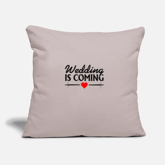 Mariage Housses de coussin - Wedding Is Coming - Mariage à l'approche du mariage - Housse de coussin gris clair