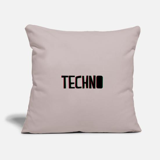 Hardstyle Pillow Cases - techno music - Pillowcase 17,3'' x 17,3'' (45 x 45 cm) light taupe