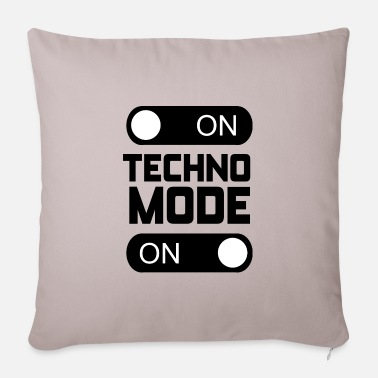 Techno Music Techno Fashion Birthday Gift Music Rave Party - Pillowcase 17,3'' x 17,3'' (45 x 45 cm)