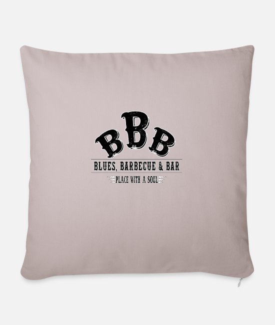 BBQ Pillow Cases - Blues Barbecue Bar Beer Meat Barbecue Grill Chef - Pillowcase 17,3'' x 17,3'' (45 x 45 cm) light taupe